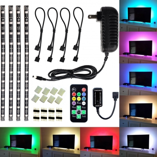 Led tv backlight light kit avawo computer rgb led light strip led tv backlight light kit avawo computer rgb led light strip mini kit pre cut multicolor rgb led tape light strip kit with remote control and pow aloadofball Images